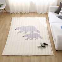100% cotton rug with black bear