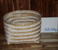 Bamboo basket with color liner