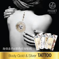 Passet Body Gold & Silver Tattoo Nail Sicker