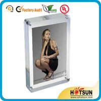 Handmade acrylic photo frames designs with small magnet