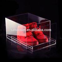 High quality custom clear acrylic shoe box wholesale