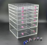 acrylic 7 tiers drawers clear makeup/cosmetic organizer wholesale