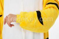 onesie adult yellow  tiger