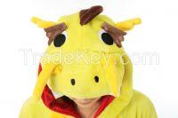 onesie adult yellow china dargon