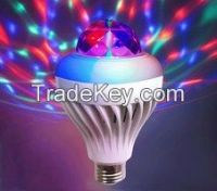 RGB rotating color crystal led bulb  disco  party lighting