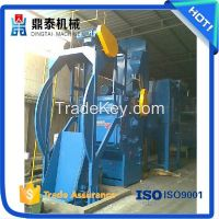 Automatically loading and unloading crawler belt shot blasting machine