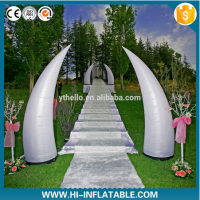 Colorful led lighted pillar inflatable for event wedding decoration