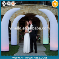 Colorful air blown pillar inflatable for wedding decoration
