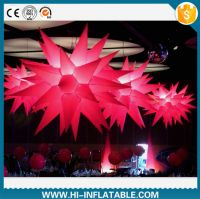 Hot sale led lighted inflatable star balloon for wedding decoration