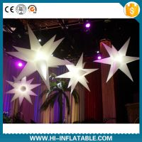 Hot sale led lighting inflatable star for christmas decoration