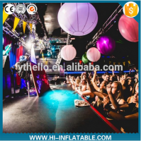 Colorful led light air blown ball inflatable for event stage decoration
