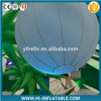 Colorful led light air blown inflatable balloon for holiday decoration