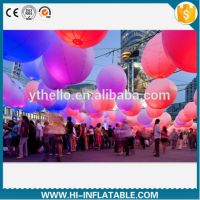 Colorful led light air blown ball inflatable for festival decoration