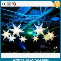 Hot sale led lighting inflatable star for party decoration