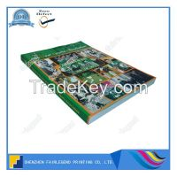 Overseas Classicial Softcover Book With Saddle stitched Brochure Print