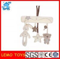 Plush animal baby rattles