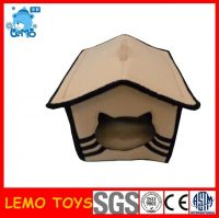 Plush pet cages and cat houses