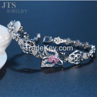 18K White Gold Bracelet Jewelry Butterfly Cuff Bracelets Bangles
