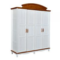 Sampo Kingdom 4 Door Kids Pine Wood Wardrobe