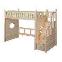 Sampo Kingdom Kids Pine Wood Loft Bed