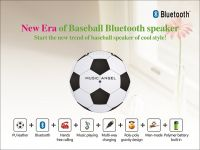 Creative Footabll Design and 360 Degree Covered by PU Leather High-Performance Loudspeaker with ND-Fe-B Technique Bluetooth Speaker Bass Sound Box Hand-Fee Call