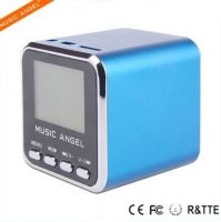 Music Angel New Design FM LCD Screen Fashion Professional with FM Radio MP3 Player Mini Portable Digital Loudspeaker Sports Outdoor Speaker