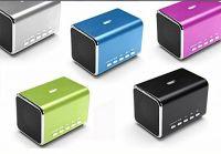 MD05B Sports Active Portable PC Mini Speaker Loudspeaker FM radio Computer Speakers TF Card/USB Flash MP4 Speaker Black