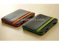 genuine cowhide leather wallet,hot selling wallet two fold magic wallet , wallet as seen on tv