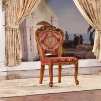 Solid rubber wood dining room chairs banquet chair