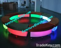 acrylic LED sofa cube series