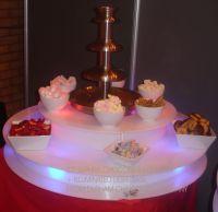 led chocolated fountain base