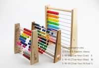 Wooden Abacus Educational Toy for Kids, Beads Color: Yellow, Green, Orange, Blue, Shocking Pink