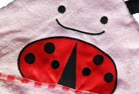 Ladybird 100% cotton terry hooded baby towel for infant