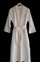 Superior 100% Cotton white Waffle Weave Spa Bath Robe