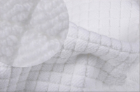 Hotel collections cotton diamond check skid resistance plus thicker bath mats