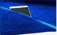 Micro Fiber Sports towel with zipper pocket