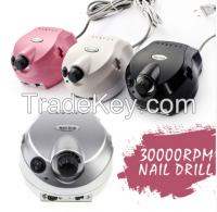 2016 pink New Exclusive Professional rechargeable nail drill 35000 rpm
