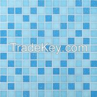blue glass mosaic for