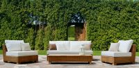 Natural rattan patio set, model MRW-SET-01-2P