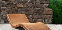 Natural rattan sun bed, model MRW-LETNO-01