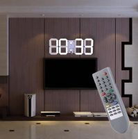 Modern Design Remote Control Digital LED Wall Clock Alarm Stopwatch Thermometer Countdown Calendar Support Wholesale US/EU PLUG