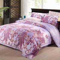 Waltz best 100% cotton modern floral sheet set jacquard bedding set