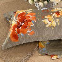 Rainbow version flowers luxury pure colour raw silk duvet wholesale 3d bed sheet bedding set