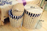 Handmade wicker laundry basket for sale