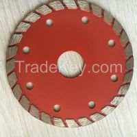 Marble saw blade for cutting