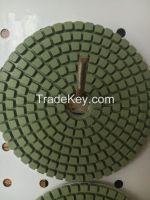 Wet polishing pad for stone polishing work