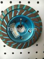 Diamond cup wheel for granite, marble, concrete