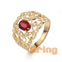 wholesale gold jewelry Solid 18k 9k 14k  Gold Vintage Style Ruby Rings