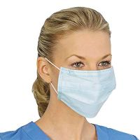 Face Mask Earloop Pleated 3 Ply Medical Procedure Disposable Surgical Face Mask 0.2-0.22 usd/piece