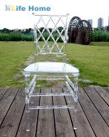Transparent chiavari chair crystal clear wedding chair banquet hotel chair